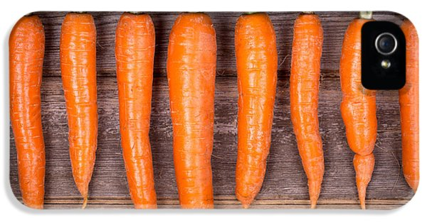 Trimmed Carrots In A Row IPhone 5 / 5s Case by Jane Rix