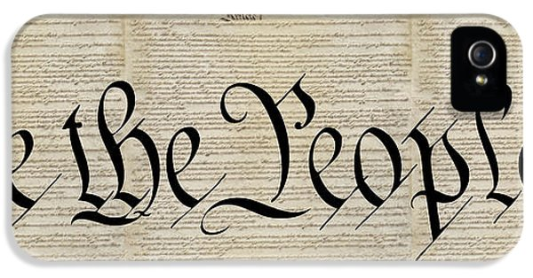 Us Constitution iPhone 5 Cases - Triple Constitution iPhone 5 Case by Daniel Hagerman