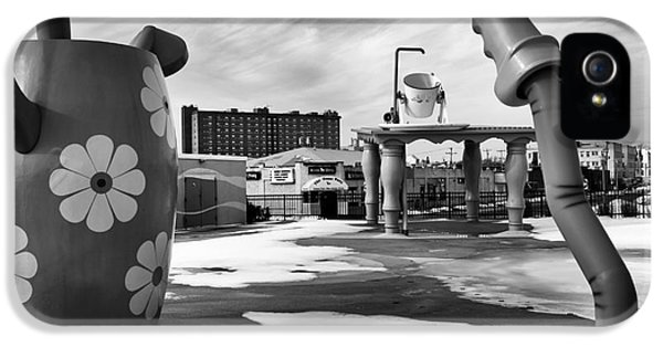 Down In The Garden iPhone 5 Cases - Tripping in Asbury Park mono iPhone 5 Case by John Rizzuto