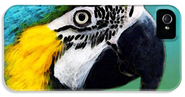 Tropical Bird - Colorful Macaw IPhone 5 / 5s Case by Sharon Cummings