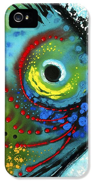 Fishing iPhone 5 Cases - Tropical Fish - Art by Sharon Cummings iPhone 5 Case by Sharon Cummings