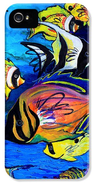 Underwater iPhone 5 Cases - Tropical Fish iPhone 5 Case by Karon Melillo DeVega