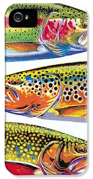 Trout Abstraction IPhone 5 / 5s Case by JQ Licensing
