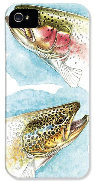 Trout Study IPhone 5 / 5s Case by JQ Licensing