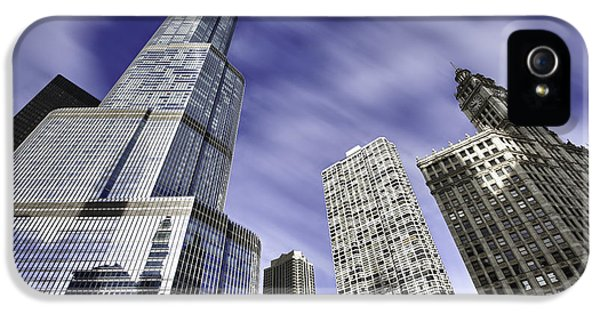 Buildings iPhone 5 Cases - Trump Tower and Wrigley Building iPhone 5 Case by Sebastian Musial