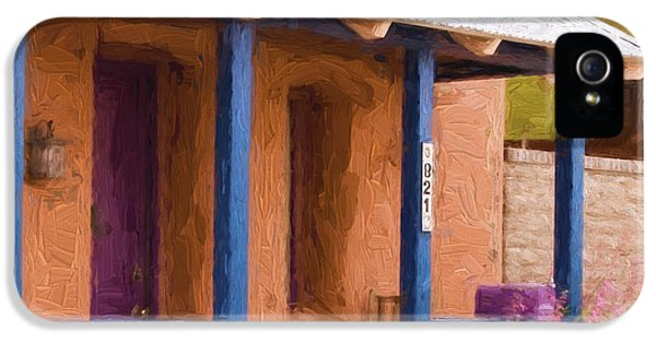 Porch iPhone 5 Cases - Tucson 821 Barrio Painterly Effect iPhone 5 Case by Carol Leigh