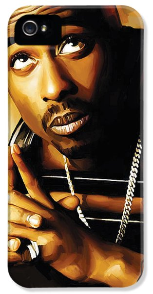 Hip Hop iPhone 5 Cases - Tupac Shakur Artwork 4 iPhone 5 Case by Sheraz A
