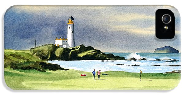 Turnberry Golf Course Scotland 10th Green IPhone 5 / 5s Case by Bill Holkham