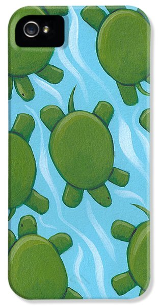 Turtle Nursery Art IPhone 5 / 5s Case by Christy Beckwith