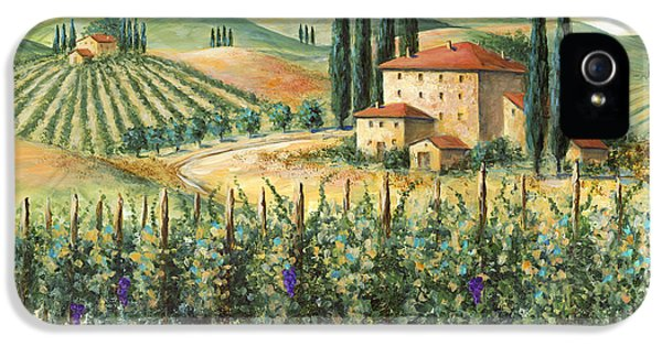 Rural iPhone 5 Cases - Tuscan Vineyard and Villa iPhone 5 Case by Marilyn Dunlap