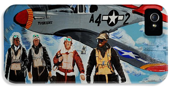 Redtail iPhone 5 Cases - Tuskegee Airmen iPhone 5 Case by Leon Hollins III