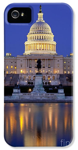 House Of Representatives iPhone 5 Cases - Twilight over US Capitol iPhone 5 Case by Brian Jannsen