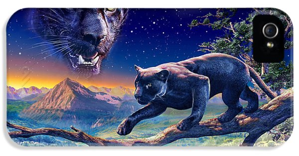 Puzzles iPhone 5 Cases - Twilight Panther iPhone 5 Case by Adrian Chesterman