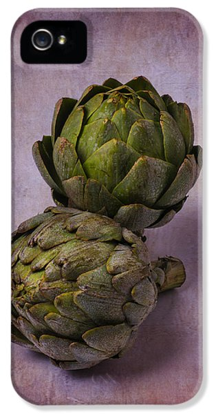 Two Artichokes IPhone 5 / 5s Case by Garry Gay