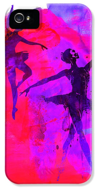 Beautiful Dancer iPhone 5 Cases - Two Dancing Ballerinas 3 iPhone 5 Case by Naxart Studio