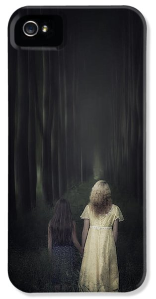 Caucasian iPhone 5 Cases - Two Girls In A Forest iPhone 5 Case by Joana Kruse