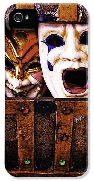 Mask iPhone 5 Cases - Two Masks In Box iPhone 5 Case by Garry Gay