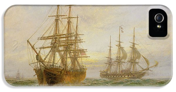 Ghost iPhone 5 Cases - Two Ships Passing At Sunset iPhone 5 Case by Claude T Stanfield Moore