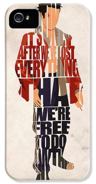 Typography Print iPhone 5 Cases - Tyler Durden iPhone 5 Case by Ayse Deniz