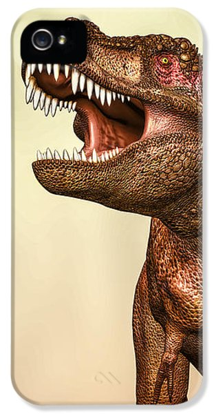 Challenge iPhone 5 Cases - Tyrannosaurus Rex 2 iPhone 5 Case by Bob Orsillo