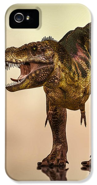 Challenge iPhone 5 Cases - Tyrannosaurus Rex Dinosaur  iPhone 5 Case by Bob Orsillo