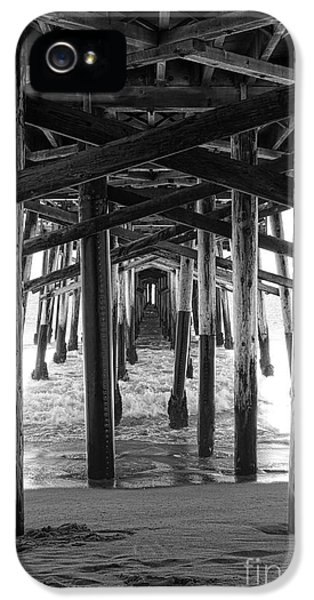 Balboa iPhone 5 Cases - Under Balboa Pier in Newport Beach iPhone 5 Case by Ana V  Ramirez