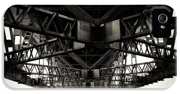 Steel iPhone 5 Cases - Under the bridge iPhone 5 Case by Les Cunliffe