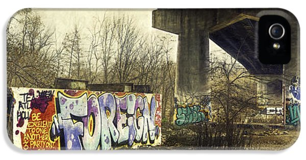Graffiti iPhone 5 Cases - Under the Locust Street Bridge iPhone 5 Case by Scott Norris