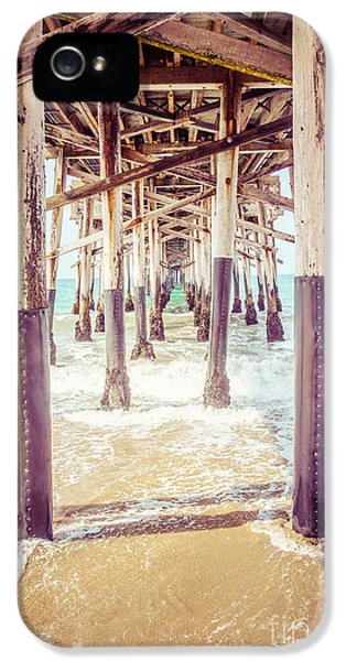 Balboa iPhone 5 Cases - Under the Pier in Southern California Picture iPhone 5 Case by Paul Velgos