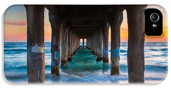 Pillar iPhone 5 Cases - Under the Pier iPhone 5 Case by Inge Johnsson