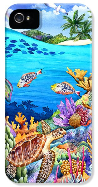 No People iPhone 5 Cases - Under The Rainbow iPhone 5 Case by Carolyn Steele