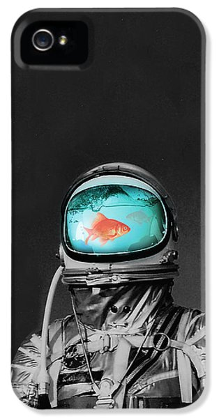 Surreal iPhone 5 Cases - Underwater astronaut iPhone 5 Case by Budi Kwan