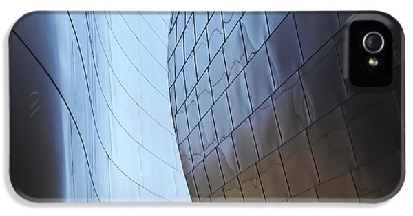 Steel iPhone 5 Cases - Undulating Steel iPhone 5 Case by Rona Black