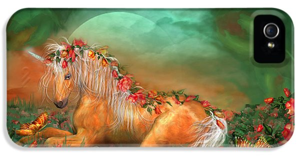 Unicorn Of The Roses IPhone 5 / 5s Case by Carol Cavalaris