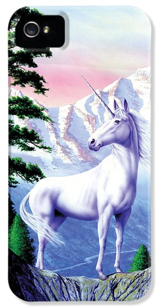 Unicorn The Land That Time Forgot IPhone 5 / 5s Case by Garry Walton