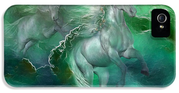 Unicorns Of The Sea IPhone 5 / 5s Case by Carol Cavalaris