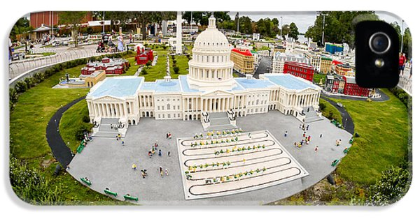 Senate iPhone 5 Cases - United States Capital Building at Legoland iPhone 5 Case by Edward Fielding