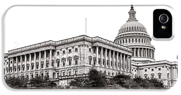Senate iPhone 5 Cases - United States Capitol Senate Wing iPhone 5 Case by Olivier Le Queinec