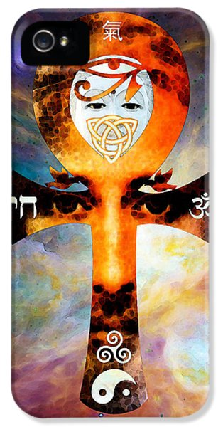 Knot iPhone 5 Cases - Universal Life - Harmony Artwork iPhone 5 Case by Sharon Cummings