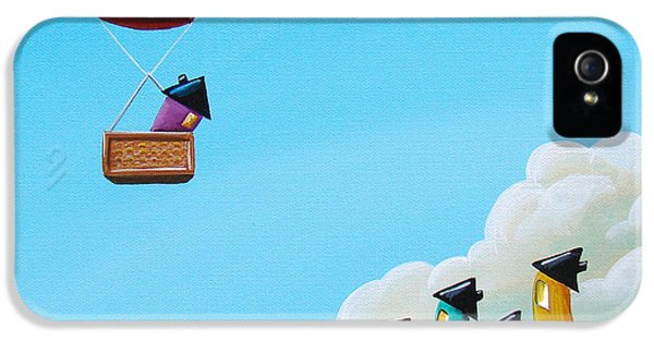 Whimsy iPhone 5 Cases - Up Up and Away iPhone 5 Case by Cindy Thornton