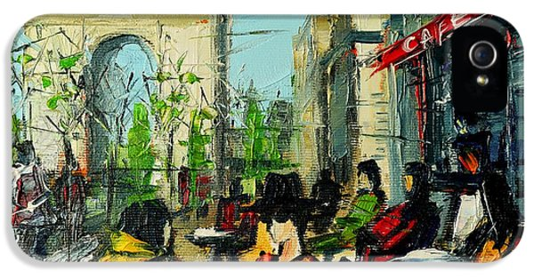 Urban Story - Champs Elysees IPhone 5 / 5s Case by Mona Edulesco