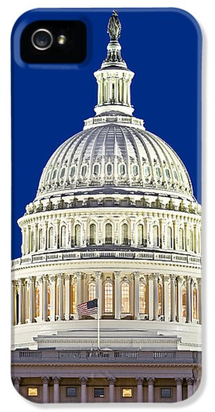 House Of Representatives iPhone 5 Cases - US Capitol Dome iPhone 5 Case by Susan Candelario