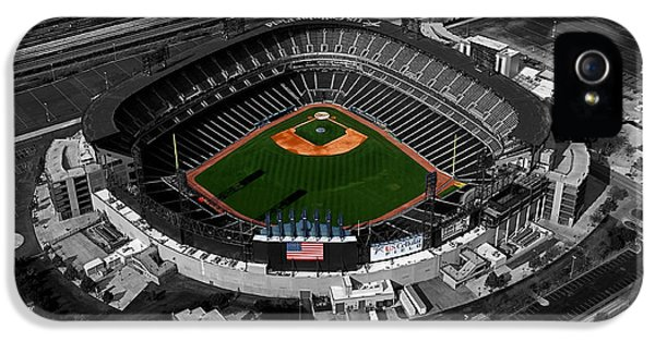 Central Il iPhone 5 Cases - US Cellular Field Chicago Sports 08 Selective Coloring Digital Art iPhone 5 Case by Thomas Woolworth