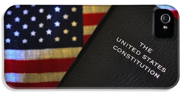 Us Constitution iPhone 5 Cases - U.S. Constitution and Flag iPhone 5 Case by Ron White