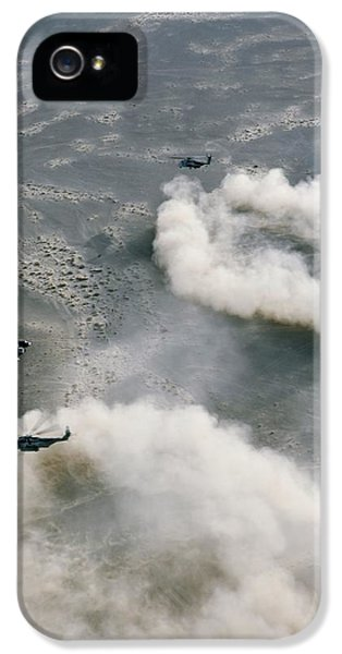 Us Helicopters Landing In Afghanistan IPhone 5 / 5s Case by U.s. Marine Corps