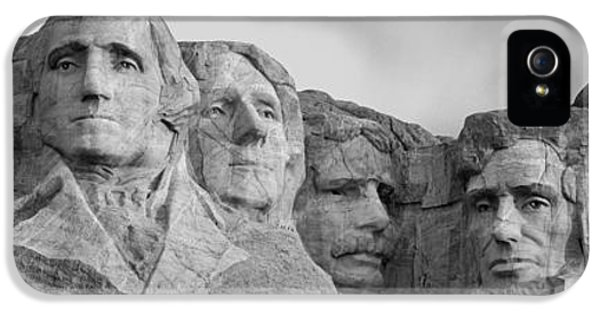 National Monuments iPhone 5 Cases - Usa, South Dakota, Mount Rushmore, Low iPhone 5 Case by Panoramic Images