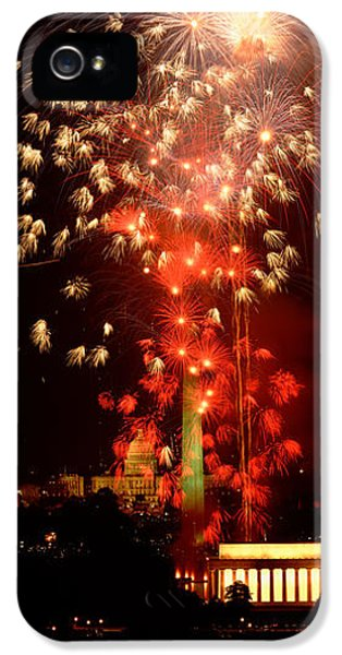 Usa, Washington Dc, Fireworks IPhone 5 / 5s Case by Panoramic Images