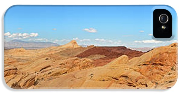 Hot Western iPhone 5 Cases - Valley of Fire pano iPhone 5 Case by Jane Rix