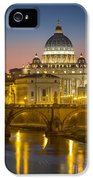 Angelo iPhone 5 Cases - Vatican Night iPhone 5 Case by Brian Jannsen