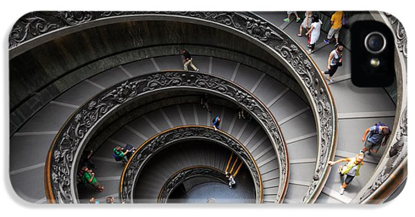 Daytime iPhone 5 Cases - Vatican Spiral Staircase iPhone 5 Case by Inge Johnsson